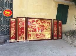 Chiêm ngưỡng siêu phẩm tranh đồng quê bằng đồng sơn nền đỏ đẹp (2)
