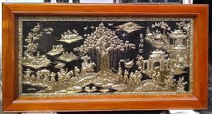 Đặt gia công tranh đồng vinh quy bái tổ dát vàng đắt không.
